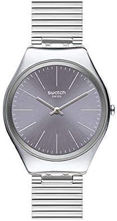 Swatch Reloj Analógico para Mujer de Cuarzo Suizo con Correa en Acero Inoxidable SYXS123GG