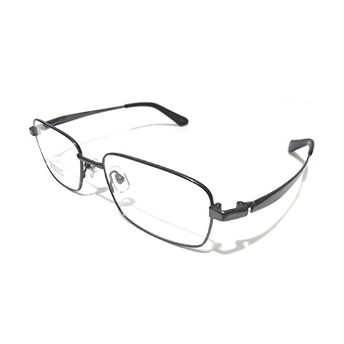 (SUMDA Pure Titanium Spectacles for Men Glasses Optical Eyeglass Frame eyewear RX (grey, NOT))