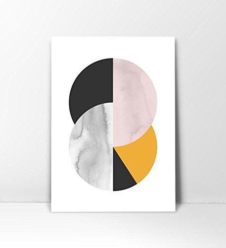 Abstract Circle, mid century Art Print, Mid Century Circle, Mid Century Wall Art, Geometric Print, Circle Print, Watercolor Print, Circle Art Print, Circle Art, Wall Print, Midcentury Modern, 8x10