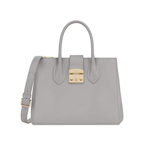 Furla Metropolis Ladies Medium Gray Onice Leather Tote 978103