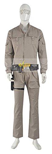 [Mtxc Men's Star Wars: The Force Awakens Cosplay Costume Luke Skywalker Full Set Size Large Brown] (Luke Skywalker Costume The Force Awakens)