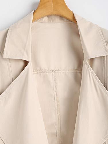 Felpato Con Corta Cappotto Caldo Apricot Casual Da Leggera Autunno Antivento Cappuccio Giacca Cardigan Donna Scothen 5vqXcF