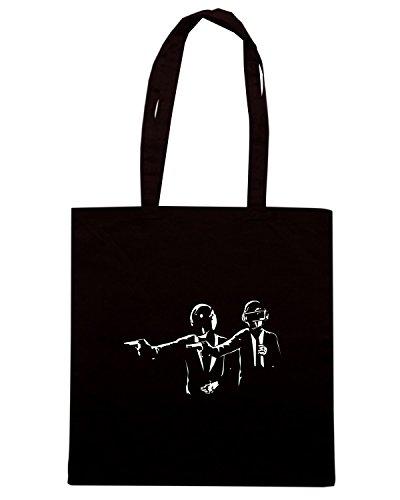 T-Shirtshock - Bolsa para la compra FUN1138 Daft fiction Negro