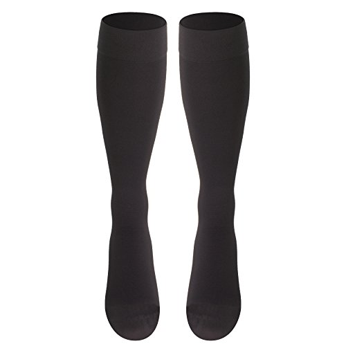 Truform Compression Stockings, 20-30 mmHg, Knee High, Charcoal, Large