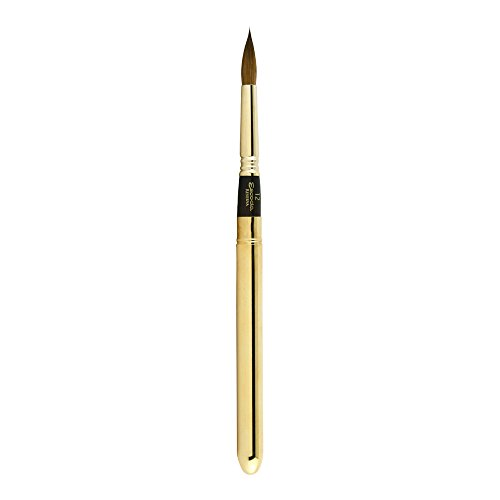 Escoda Reserva Series 1214 Kolinsky Sable for Watercolor Brush, Travel Brush, Round Pointed, Size 12