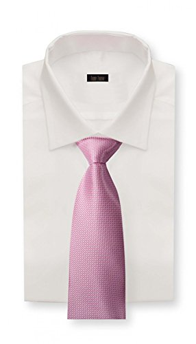 Cravate rose blanche Fabio Farini