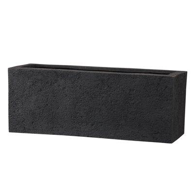 リガンデ プランター 60 cm/軽量/植木 鉢 プランター 【 ブラック 】 B01CQOL1W8 ブラック ブラック