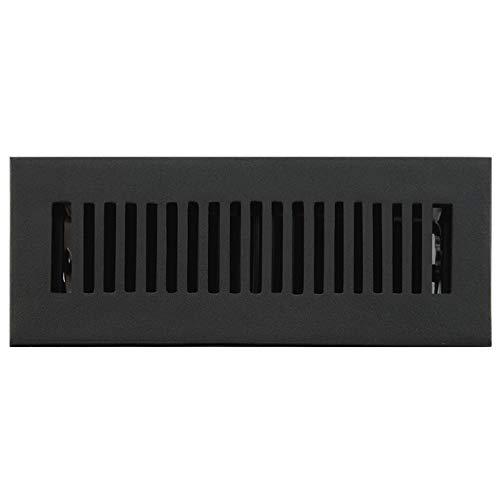 (Signature Hardware 294693 Modern Cast Iron Floor Register - 2-1/4