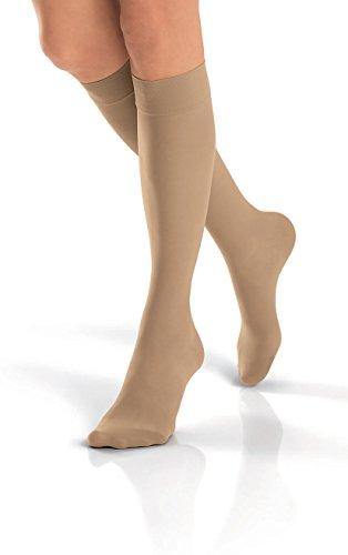 High Natural Knee (Jobst Ultrasheer 20-30 Knee High Closed Toe Womens Stockings Natural Small)