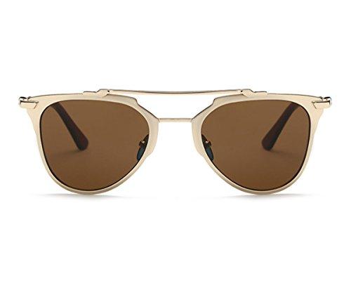 Heartisan Retro Anti-UV Oval Lens Full Rim Frame Sunglasses for Womens - Escobar Sunglasses