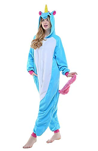 Kigurumi Halloween Abyed® Unicorno Attrezzatura Cosplay Blu Costume Pigiama Anime drqfZq