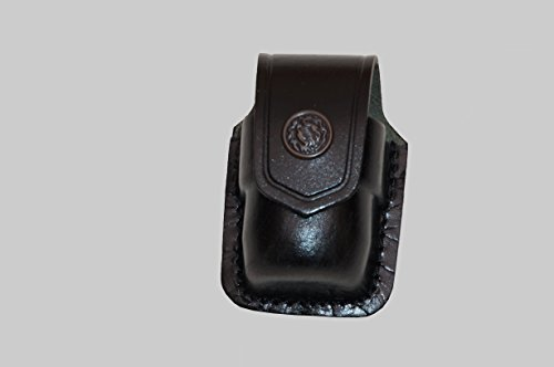 ALS037 Single Speedloader Carrier/case/pouch for Smith&Wesson Magnum Genuine Leather ()