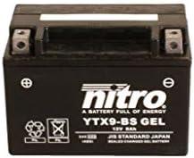 Batterie 12V 8AH YTX9-BS Gel Nitro 50812 ZXR 750 RR ZX750M 93-95