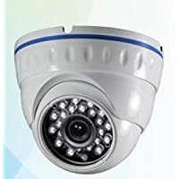 BW BWE7D 700TVL Outdoor/Indoor Waterproof/Vandalproof With IR-CUT Day Night Vision Infrared Dome Camera With 24PCS IR LEDs 3.6mm Wide View Angle 20M IR Distance for Surveillance System-White