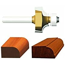 Vermont American 23134 3/8-Inch Radius Carbide Tipped Roundover and Bead Router Bit, 2-Inch Ball Bearing 2-Flute 1/4-Inch Shank