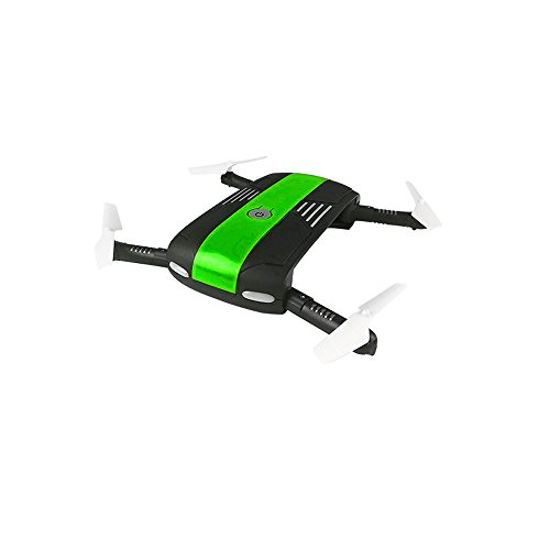 WARMSHOP 6-Axis Altitude Hold HD Camera RC Quadcopter Drone Foldabl 2.4G Remote Control WIFI FPV Helicopter (Green) by WARMSHOP