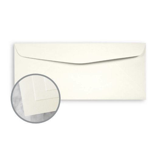 ENVIRONMENT PC 100 Natural Envelopes - No. 10 Commercial (4 1/8 x 9 1/2) 24 lb Writing Smooth 100% Recycled Watermarked 500 per Box by Neenah Paper ENVIRONMENT