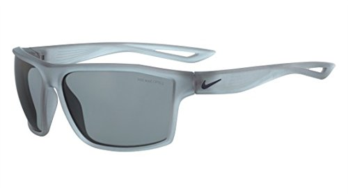 Nike Mens Sunglasses - Nike Golf Legend Sunglasses, Matte Crystal Wolf Grey/Obsidian Frame, Grey with Silver Flash Lens