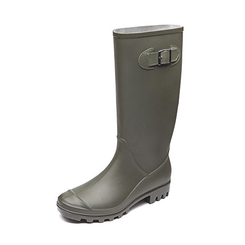 DKSUKO Rain Boots for Women Waterproof Elastic Wellington Boots (7 B (M) US, Amy ()