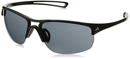 adidas Raylor 2 L Oval Sunglasses, Shiny Black, 65 - Adidas Sunglasses
