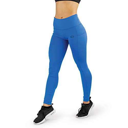 d3f6139ffc Contour Athletics Women's (Hydrafit) Yoga Leggings Full Length Running  Workout Pant with Side Pockets