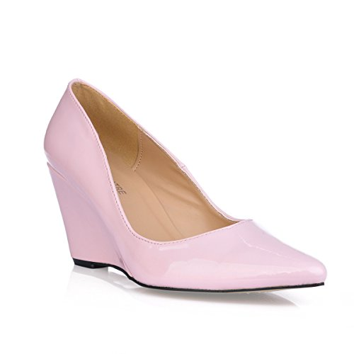 Click shoes female spring tip women shoes black pearl pink high-heel shoes Pink KzAWRNH