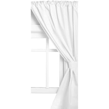 Amazing Carnation Home Fashions Vinyl Bathroom Window Curtain, White