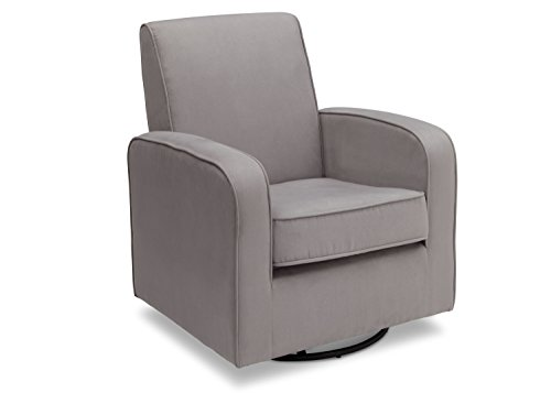 Delta Furniture Chloe Upholstered Glider Swivel Rocker Chair, Grey by Delta Furniture