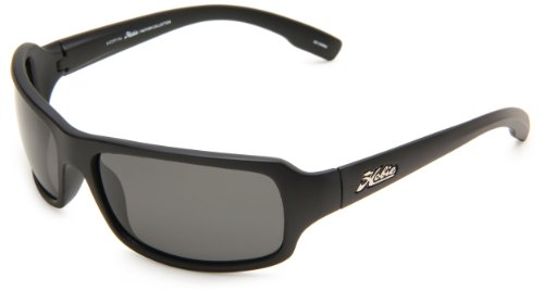Hobie Malibu Rectangle Sunglasses,Matte Black Frame/Grey Lens,One Size (Plus Black Frame Clear Lens)