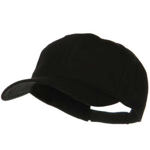 New Big Cap Hat (E4hats New Big Size High Profile Twill Cap - Black OSFM)
