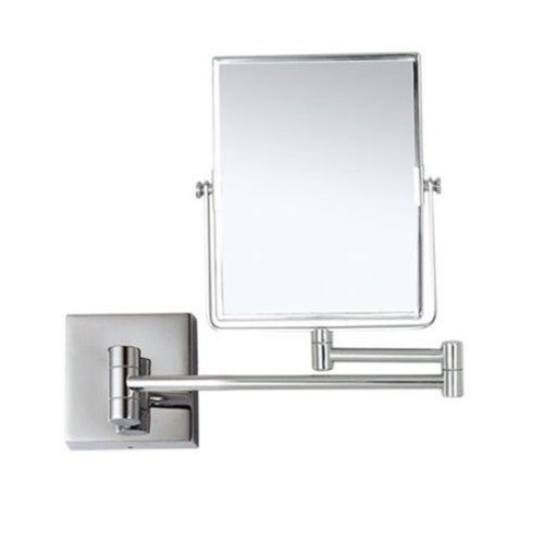Glimmer Nameeks AR7721-CR-3x Wall Mounted Makeup Mirror, 5'' L x 6.3'' W