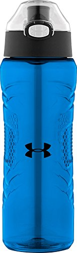 Under Armour Draft 24 oz Tritan Hydration Bottle with Push Button Top, Blue Jet (Hydration 24 Bottle Ounce)