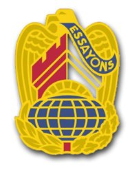 Military Vet Shop US Army Corps Engineers Command Unit Crest - Left - Vinyl Transfer Window Bumper Sticker Decal 3.8