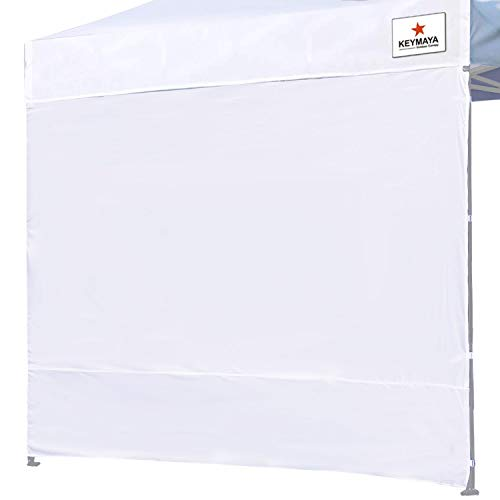 (Keymaya Instant Canopy SunWall for 10x10 Feet, 10x20 Feet Straight Leg pop up Canopy, 1 Pack Sidewall Only, White )