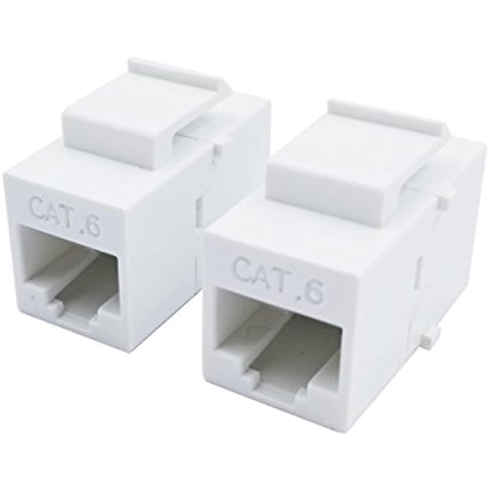 50x Cat6 RJ45 Ethernet Jack Coupler With Keystone Latch Female to Female