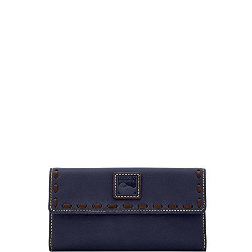 Dooney Bourke Purse - Dooney & Bourke Florentine Continental Clutch Navy Leather Wallet