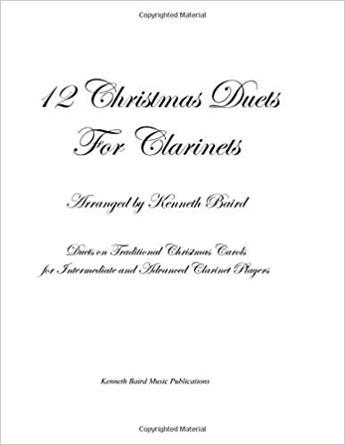 Amazon com: 12 Christmas Duets for Clarinets: Duets on Traditional