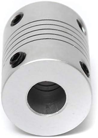Wellen-Unterstützung 2 Stück Aluminium Flexible Wellenkupplung OD19mm X L25mm CNC Schrittmotor-Koppler-Verbindungs 5mm x 8mm