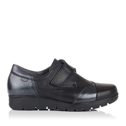 Zapato On Negro Velcro Piel 15002 Foot Mujer 118EwxzFq
