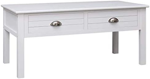 Aankoop Nologo Egcsf salontafel bijzettafel met 2 lades rechthoekig opbergmeubel Eenvoudig Morden Wit 100x50x45 cm Hout 261y7Nc