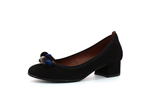 Hispanitas Women's Black Court Shoes Hi75630 SSOqr8