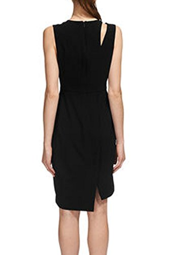 Elegante cava femminile fuori Surplice Little Black Dress
