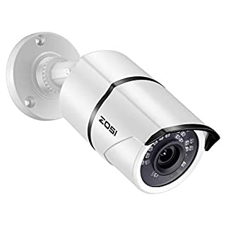 ZOSI 2.0MP 1080p HD 1920TVL 4-in-1 TVI/CVI/AHD/CVBS Surveillance Security Bullet Camera Indoor Outdoor 120ft Night Vision,Aluminum Metal Housing, Compatible for 960H,720P,1080P,5MP,4K analog CCTV DVR