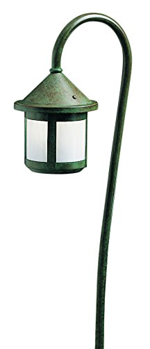 Arroyo Craftsman LV27-B6SWO-RB Low Voltage Berkeley Short Body Light Fixture with Bo Peep Stem and White Opalescent Glass, 6