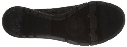 BOBS from Skechers Women's Pureflex-Fairy Dust Flat, Black Dot, 5 M US