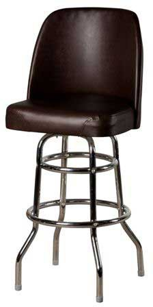 Oak Street Swivel Bar Stool upholstered premium bucket seat 4° steel ball bearing swivel espresso vinyl - SL2134-ESP Espresso Vinyl Seat