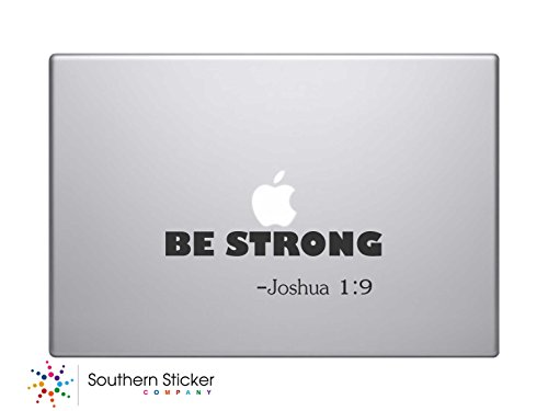 Be Strong -Joshua 1:9 Bible Verse Vinyl Car Sticker Symbol Silhouette Keypad Track Pad Decal Laptop Skin Ipad Macbook Window Truck - Decals Verse Bible Laptop