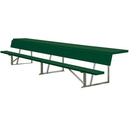 7.5' Players Bench - 7.5' Powder Coated Store-All Players Bench with Shelf