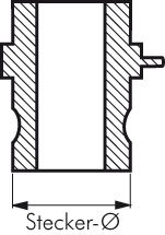 1 1//2 E Kamlock-Stecker 38mm Schlauch mm PN:6bar PP Werkstoff:PP* Schlauch /Ø innen:38mm DN:40