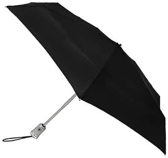 Totes Micro Auto Open/Auto Close Umbrella, Black, One Size